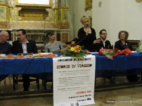 La Commissione di Giuria - Discorso di Alessandra Montali, Presidente del Concorso