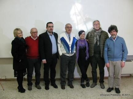Da sx: Alessandra Montali, Elvio Angeletti, Lorenzo Spurio, Vincenzo Prediletto, Gioia Casale, Franco Duranti, Stefano Vignaroli