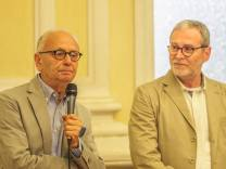 Jesi, Palazzo dei Convegni, sabato 4 giugno 2016 - Presentazione della Ass. Culturale Euterpe - Da sx: Giovanni Filosa, Franco Duranti