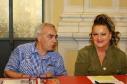 Jesi, Palazzo dei Convegni, sabato 4 giugno 2016 - Presentazione della Ass. Culturale Euterpe - Da sx: Vincenzo Prediletto, Marinella Cimarelli