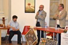 Jesi, Palazzo dei Convegni, sabato 4 giugno 2016 - Presentazione della Ass. Culturale Euterpe - Da sx: Stefano Vignaroli, Giovanni Filosa, Franco Duranti