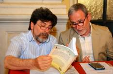Jesi, Palazzo dei Convegni, sabato 4 giugno 2016 - Presentazione della Ass. Culturale Euterpe - Da sx: Stefano Vignaroli, Franco Duranti