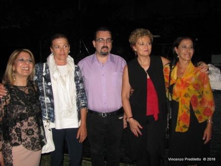 Nuccia Martire, Nunzia Luciani (Presidente Ass. Armonica-mente di Fermo), Lorenzo Spurio (Presidente Ass. Euterpe), Tiziana Bonifazi, Susanna Polimanti