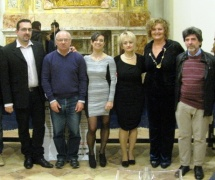 Da sx: Lorenzo Spurio, Elvio Angeletti, Gioa Casale, Alessandra Montali, Marinella Cimarelli, Stefano Vignaroli
