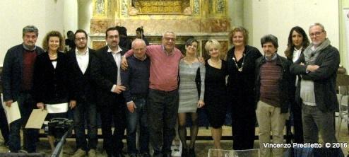 Da sx: Lorenzo Spurio, Elvio Angeletti, Vincenzo Prediletto, Gioia Casale, Alessandra Montali e Marinella Cimarelli