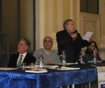 Da sinistra Marco Palmonella, Camillo Nardini, Vincenzo Prediletto, Armando Ginesi, Max Ponte