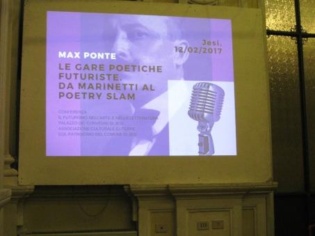 Fermo immagine della presentazione di Max Ponte