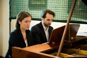 I musicisti Maestro Marta Marrocchi e l'allievo Nunzio Sfregola