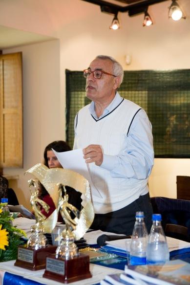 Il prof. Vincenzo Prediletto, Presidente di Giuria