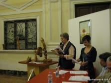 Jesi, Palazzo dei Convegni, sabato 4 giugno 2016 - Presentazione della Ass. Culturale Euterpe - Da sx: Patrizia Pierandrei e Gioia Casale