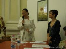 Jesi, Palazzo dei Convegni, sabato 4 giugno 2016 - Presentazione della Ass. Culturale Euterpe - Da sx: Michela Tombi e Gioia Casale