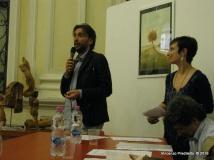 Jesi, Palazzo dei Convegni, sabato 4 giugno 2016 - Presentazione della Ass. Culturale Euterpe - Da sx: Sergio Cardinali e Gioia Casale