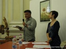 Jesi, Palazzo dei Convegni, sabato 4 giugno 2016 - Presentazione della Ass. Culturale Euterpe - Da sx: Pietro Cerioni e Gioia Casale