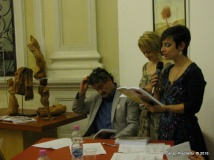 Jesi, Palazzo dei Convegni, sabato 4 giugno 2016 - Presentazione della Ass. Culturale Euterpe - Da sx: Oscar Sartarelli, Alessandra Montali e Gioia Casale