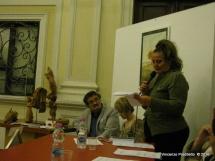 Jesi, Palazzo dei Convegni, sabato 4 giugno 2016 - Presentazione della Ass. Culturale Euterpe - Da sx: Oscar Sartarelli, Alessandra Montali e Marinella Cimarelli