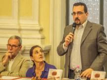 Jesi, Palazzo dei Convegni, sabato 4 giugno 2016 - Presentazione della Ass. Culturale Euterpe - Da sx: Susanna Polimanti (Vicepresidente) e Lorenzo Spurio (Presidente)