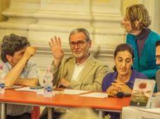 Jesi, Palazzo dei Convegni, sabato 4 giugno 2016 - Presentazione della Ass. Culturale Euterpe - Da sx: Franco Duranti, Susanna Polimanti e dietro Cinzia Ricci