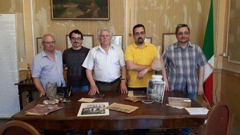 BAGHERIA (PA) - Palazzo Aragona Cutò - Da sx: Elvio Angeletti, Luigi Pio Carmina, Carlo Puleo, Lorenzo Spurio, Emanuele Marcuccio