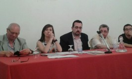PALERMO - Villa Niscemi - 11-06-2016 - Reading poetico - Da sx: Elvio Angeletti, Emanuela Inglima, Lorenzo Spurio, Emanuele Marcuccio