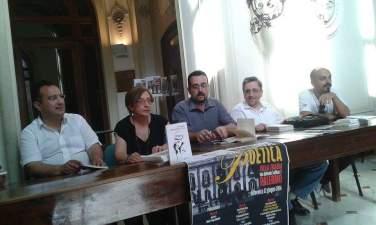 PALERMO - Villa Trabia - Kermesse poetica - 12-06-2016 - Da sx: Michele Miano, Francesca Luzzio, Lorenzo Spurio, Emanuele Marcuccio