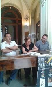 PALERMO - Villa Trabia - Kermesse poetica - 12-06-2016 - Da sx: Michele Miano, Francesca Luzzio, Lorenzo Spurio