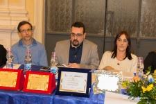 Parte della Commissione di Giuria. Da sinistra Giuseppe Guidolin, Lorenzo Spurio e Susanna Polimanti