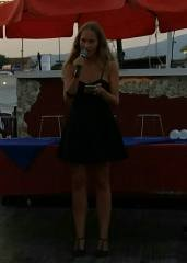 Camilla Dania, vincitrice della Playa Rosa Poetry Slam